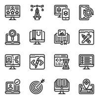design responsivo e desenvolvimento web vetor