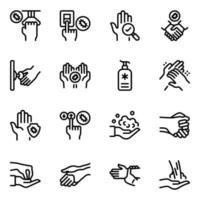 mãos infectadas cobiçosas vetor