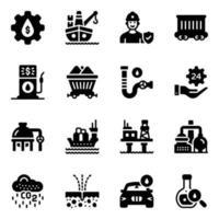 indústria e equipamento vetor