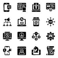 marketing digital e análise de dados vetor