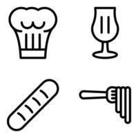 comida e cultura italiana vetor