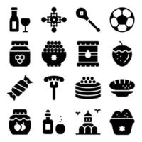 elementos de sobremesas russas vetor