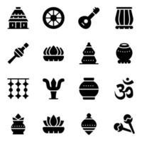 elementos da cultura indiana vetor
