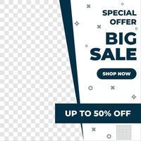 design de modelo de banner de venda. oferta especial. mega venda e grande venda para web e mídia social marketing melhor preço em vetor