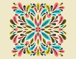 padrão de folhas simétricas