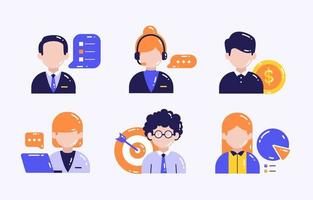 conjunto de ícones de empresários vetor