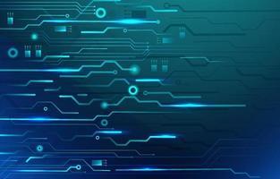 fundo de tecnologia azul moderno vetor