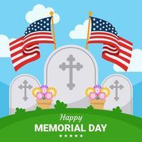 fundo do dia do memorial dos EUA vetor