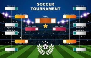 chave do torneio de futebol