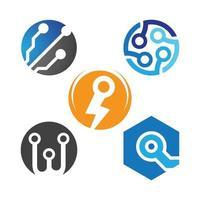 ilustração de imagens de logotipo de tecnologia vetor