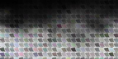 layout de vetor cinza claro com linhas, retângulos.