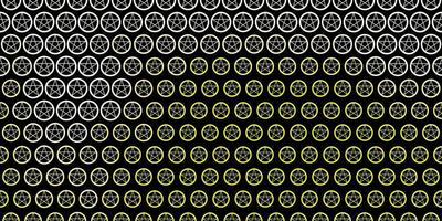modelo de vetor amarelo escuro com sinais esotéricos.