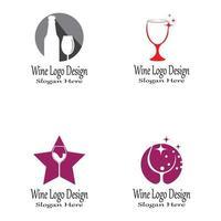 vinho logo modelo vetor símbolo natureza