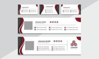 mais recente design exclusivo de modelo de assinatura de e-mail corporativo e comercial. vetor