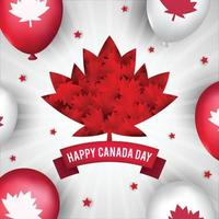 conceito de fundo feliz dia do Canadá vetor