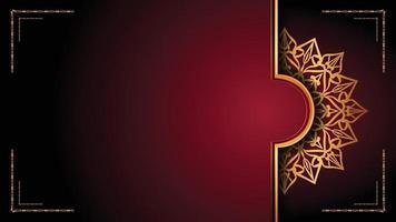 design de fundo ornamental de mandala de luxo com estilo de padrão arabesco dourado. ornamento de mandala decorativo para impressão, folheto, banner, capa, cartaz, cartão de convite. vetor
