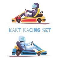 ilustração em vetor karting design concept