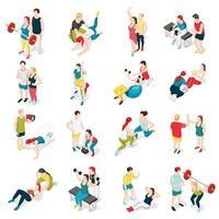 ilustração vetorial de ícones do esporte de personal trainer vetor