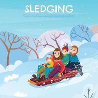 ilustração vetorial ilustração recreação inverno vetor