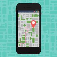 mapa offline eletrônico no smartphone vetor