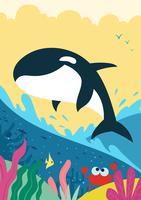 Baleias assassinas saltam vetor