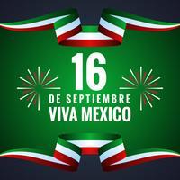 Cartão feliz do Dia da Independência de México vetor