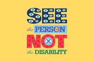 ver pessoa não deficiente pôster desabilitar igualdade vetor