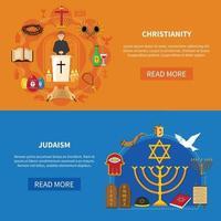conjunto de banner de religiões vetor