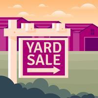 Ilustração de sinal de venda de jarda vetor