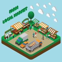 ilustração em vetor composição mercado de produtos agrícolas