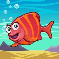 Desenhos animados de peixe vetor
