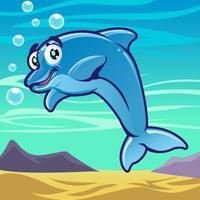 Desenhos animados de peixe 2 vetor