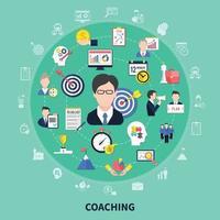 ilustração do conceito de coaching e treinamento vetor