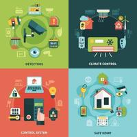 ilustração em vetor conceito design de segurança doméstica