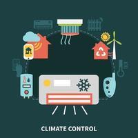 ilustração vetorial de composição de controle de clima doméstico vetor