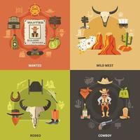 conceito de design de cowboy vetor