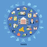 composição da rodada de impostos vetor