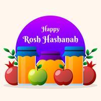 Celebração de ano novo judaico ilustração Holiday Banner Design