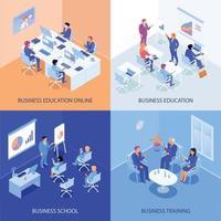 ilustração em vetor conceito design isométrico educação empresarial
