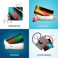 ilustração em vetor conceito design medicina trauma