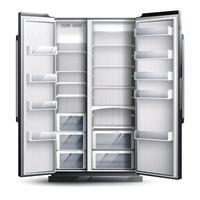 ilustração vetorial de geladeira vazia mais ampla vetor