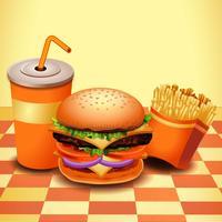 Fast Food realista vetor