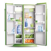 ilustração vetorial de objeto realista de organização de geladeira vetor
