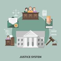 composição da lei da sessão do tribunal vetor
