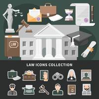 ícones de justiça definir fundo vetor