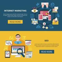 ilustração vetorial de banners de marketing na internet vetor