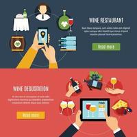 banners de vinho definir ilustração vetorial vetor
