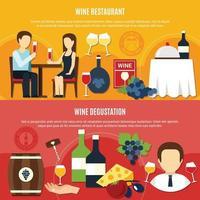 ilustração vetorial de banners de vinho liso vetor