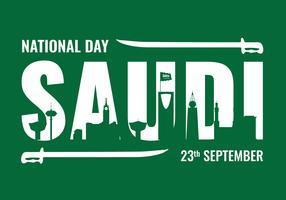 Fundo de celebração da Arábia Saudita vetor