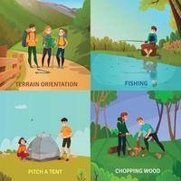 ilustração em vetor conceito de design de acampamento